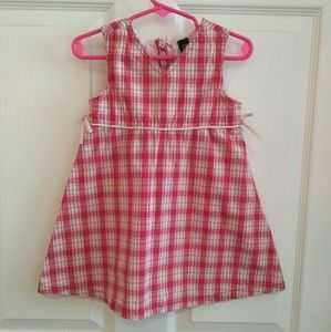 Pink plaid jumper dress by Gap